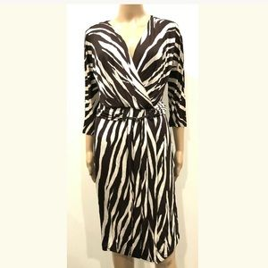 MAX MARA COLLECTION PRINT DRESS 44 4